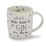 Cooksmart Christmas Shhh There Might Be Gin in Here Barrel Mug