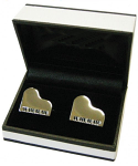 Grand Piano Silver-Plated Cufflinks from Music Gifts