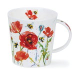 Dunoon Cairngorm Shape Mug - Busy Bees Poppy - Boxed