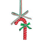 Newbridge Silverware Candy Cane with Bow Hanging Decoration