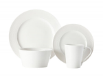 Casa Domani Casual White Evolve Dinner Set 16 Piece