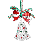 Newbridge Silverware Christmas Bell with Bow Decoration