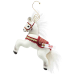 Steiff Christmas Horse Ornament 10cm White Limited Edition