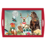 Michel Design Works - Christmas Party Decoupage Wooden Tray