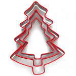 Cooksmart Christmas Tree Set of 3 Nesting Cookie Cutters