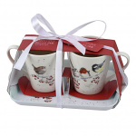 Royal Worcester Wrendale Designs - Christmas Mug and Tray Set