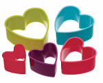 Colourworks 5 Piece Heart Cookie Cutter Set