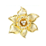 Daffodil Lapel Pin Gold Plated