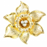 Daffodil Brooch Gold Plated