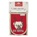 Cooksmart Christmas Bah Humpug Double Oven Gloves