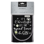 Cooksmart Christmas Let the Good Times Be Gin Double Oven Gloves