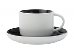Maxwell & Williams Tint Tea Cup & Saucer 250ml Black