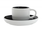 Maxwell & Williams Tint Demi Cup & Saucer 100ml Black