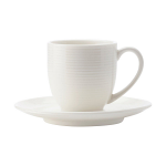 Casa Domani Casual White Evolve Demi Cup & Saucer 100ml Coupe