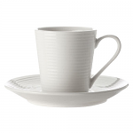 Casa Domani Casual White Evolve Demi Cup & Saucer 90ml