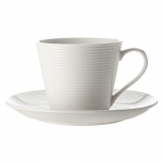 Casa Domani Casual White Evolve Cup & Saucer 220ml