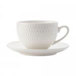 Maxwell & Williams White Basics Diamonds Demi Cup & Saucer 90ml