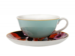 Maxwell & Williams Cashmere Bloems Tea Cup & Saucer 200ml Blue/Black