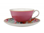 Maxwell & Williams Cashmere Bloems Tea Cup & Saucer 200ml Pink/Blue