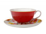 Maxwell & Williams Cashmere Bloems Tea Cup & Saucer 200ml Red/White