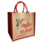 Jute Shopping Bag - Daughters are Great