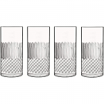 Luigi Bormioli Diamante Hiball Beverage Tumbler Glass 48cl - Box of 4 PM1057