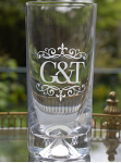 Royal Scot Crystal - Dimple Based Highball Tumbler Set of 2 Engraved G&T Presentation Boxed