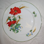 Duchess China Poppies - Luncheon Plate 24cm