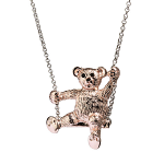 Animal Pendant - Teddy Bear - Rose Gold