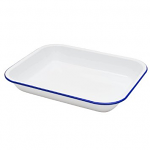 Falcon Enamel Oblong Open Roaster Bake Pan 37cm