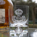 Royal Scot Crystal - Large Tumbler Dimple Based Engraved NO.1 DAD