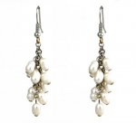 Fresh Water Pearl - Cluster Earrings