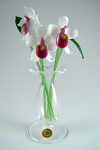 Suffolk Glass Orchid White - Small Coloured