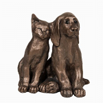 Frith Sculpture - Dog & Cat - Jack and Millie - Lets Be Friends