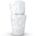 FiftyEight Products 2 Mug set without Handle in White 350 ml - Joking & Tasty