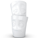 FiftyEight Products 2 Mug set without Handle in White 350 ml - Cheery & Baffled