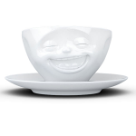 FiftyEight Products Coffee Cup 200ml White - Laughing
