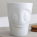 FiftyEight Products Mug with handle 350ml White - Cheery
