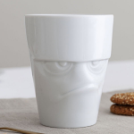 FiftyEight Products Mug with handle 350ml White - Grumpy