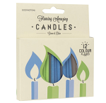 Flaming Amazing Candles Green & Blue