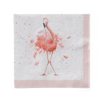 Wrendale Designs - Napkins - Cocktail - Pretty in Pink (Flamingo)