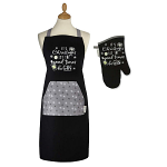Cooksmart Christmas Let the Good Times Be Gin Apron & Gauntlet Set
