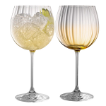 Galway Crystal Erne Amber Gin & Tonic Set of 2