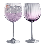 Galway Crystal Erne Amethyst Gin & Tonic Set of 2