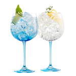 Galway Crystal Gin & Tonic Blue Set of 2