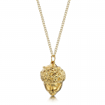 Shrieking Violet Gold Plated Leaf Necklace with a Real Acorn Dipped in Gold