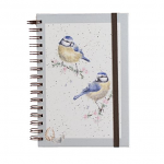 Wrendale Designs - A5 Bluetits Spiral Bound Notebook