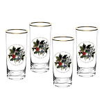 Portmeirion Holly & Ivy Highball Glass Set of 4