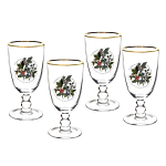 Portmeirion Holly & Ivy Wine Goblet Set of 4
