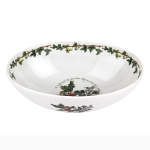 Portmeirion Holly & Ivy Oval Nesting Bowl 9 Inch